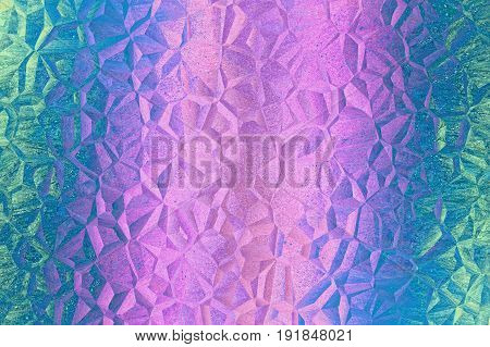 Purple and cyan mosaic pattern as abstract background. Digitally generated image.