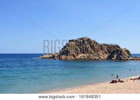 Beach Of Blanes, Costa Brava, Girona Province, Catalonia, Spain