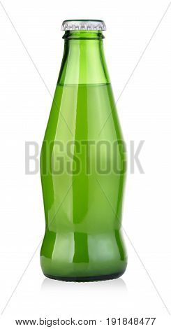 green drink bottle isolated on white with clipping path