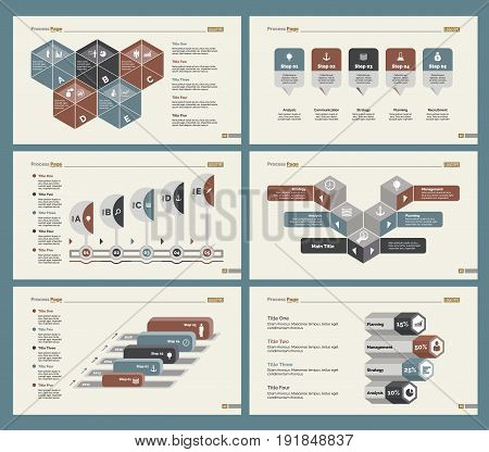 Infographic design set can be used for workflow layout, diagram, annual report, presentation, web design. Business and economics concept with process, timing and percentage charts.
