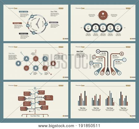 Infographic design set can be used for workflow layout, diagram, annual report, presentation, web design. Business and management concept with process, timing and flow charts.