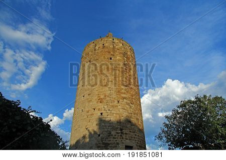 Tower of Pals Girona province Catalonia Spain poster