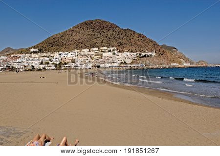 San Jose Beach In The Cabo De Gata, Natural Parck, Almeria Province, Andalusia, Spain