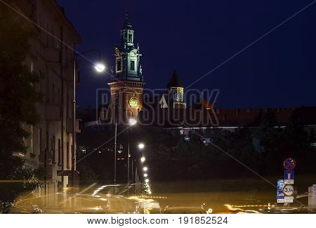 Wawel Cathedral on the Wawel Hill. Krakow. Poland. Europe.