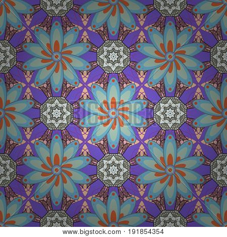 Vector flower concept. Leaf natural pattern in colors. Seamless floral pattern can be used for sketch website background wrapping paper. Summer design.