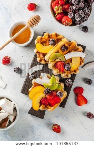 Belgian Soft Wafers With Fruits