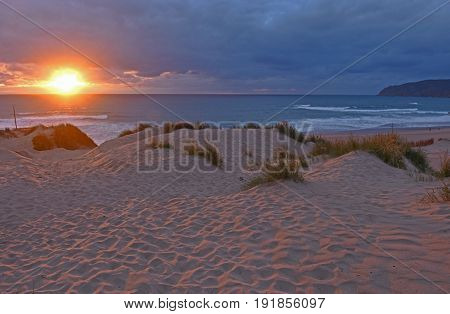 Sunset Of Guincho Beach, Natural Park Of Sintra And  Cascais, Lisboa Region, Portugal