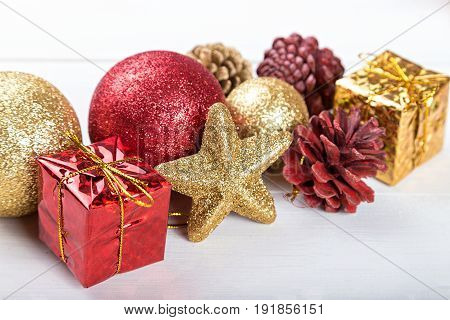 Christmas toys background for a Christmas card Christmas wallpapers white background