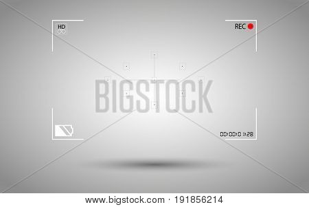 On Background Modern Digital Video Camera Focusing Screen Isolated