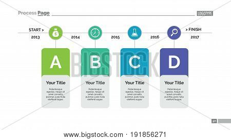 Process chart slide template. Business data. Graph, diagram, design. Creative concept for infographic, templates, presentation, report. Can be used for topics like planning, statistics, research.