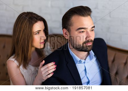 Relationship Concept - Portrait Of Beautiful Couple
