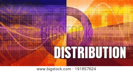 Distribution Focus Concept on a Futuristic Abstract Background