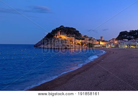Sunset At Tossa De Mar, Girona Province, Catalonia,spain