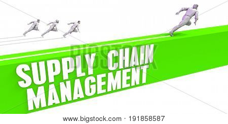 Supply Chain Management as a Fast Track To Success 3D Illustration Render