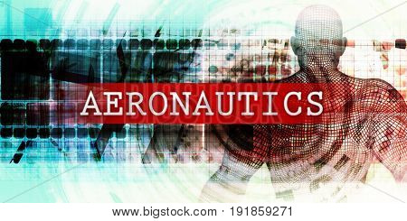 Aeronautics Sector with Industrial Tech Concept Art