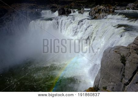 Large powerful waterfall water fall Shoshone Falls beauty amazing epic