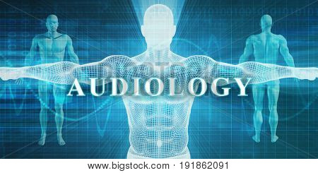 Audiology as a Medical Specialty Field or Department 3D Illustration Render