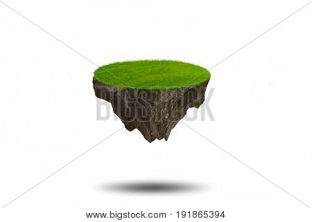 Floating island in environmental concept - 3d rendering