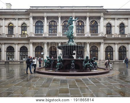 Hygieia Fountain In Hamburg