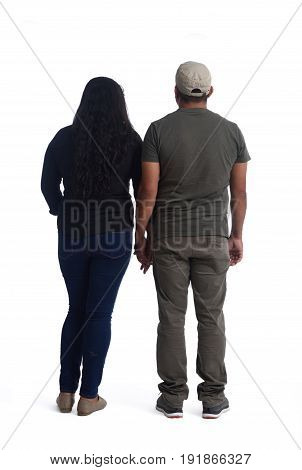 latinamerican couple in love on a white background