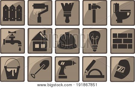 Small construction vector icons for your website