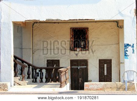 Abandoned house in old town of Akko (Acre), Israel.