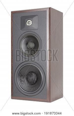 Old Three Way Wooden Audio Speaker