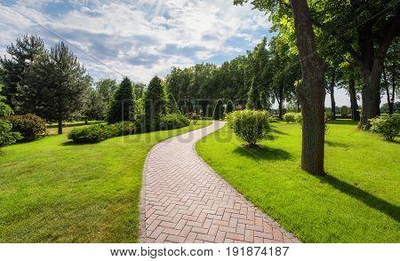 Scenic View Of The Park In Summer In Mezhyhirya, Ukraine
