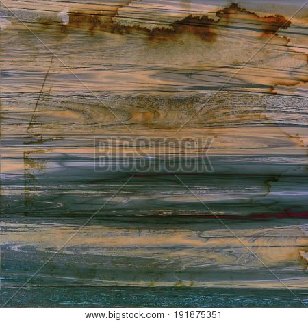 Old school background or texture with vintage style grunge elements and different color patterns: yellow (beige); green; brown; gray; blue; cyan