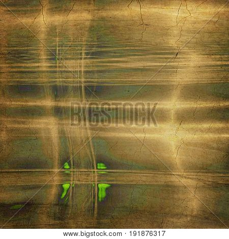 Shabby texture or background with classy vintage elements. Grunge backdrop with different color patterns: yellow (beige); green; brown; gray; cyan