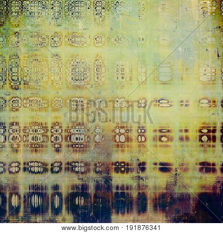Vintage aged texture, old scratched background. With different color patterns: yellow (beige); purple (violet); green; brown; blue; cyan
