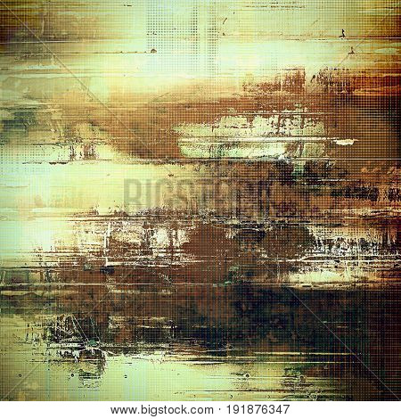Grunge retro vintage textured background. With different color patterns: yellow (beige); brown; gray; green; cyan