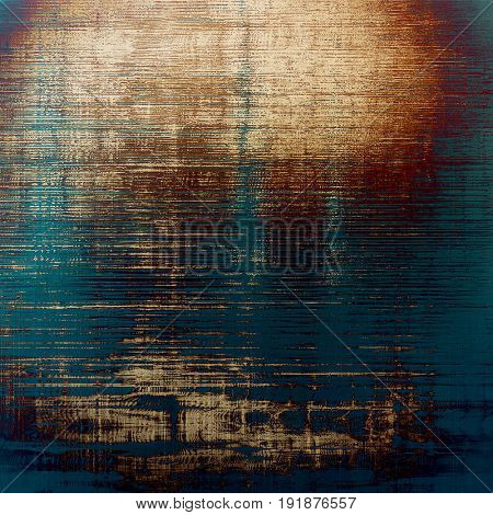 Decorative vintage texture or creative grunge background with different color patterns: yellow (beige); brown; blue; cyan