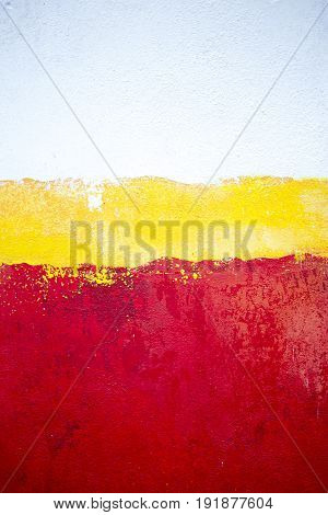Jamaican red white yellow painted background texture
