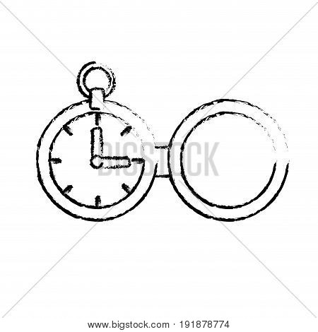 figure clock of pocket to know the timevector illustration
