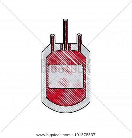 plastic bag blood transfusion donation care vector illustration