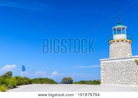 Lighthouse Of Zante Above Cape Skinari