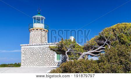 Skinari Lighthouse In Summer Season, Zante