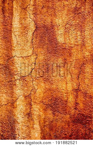 Brown and orange aged background with crackles