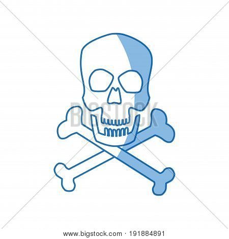 skull crossed bones danger poison symbol medical vector illustration