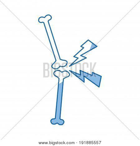 drawing bone human pain anatomical vector illustration