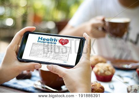 Health Insurance Digital Application Concept Health Care