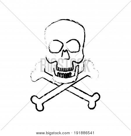 skull crossed bones danger poison symbol medical vector illustrat
