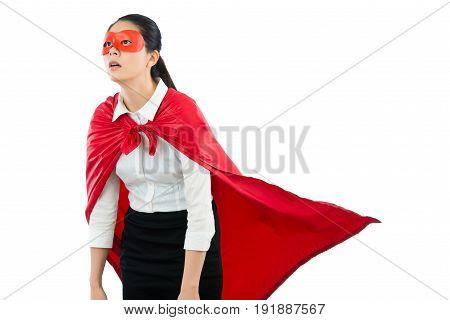 Woman Superhero Feel Frustrated And Tired