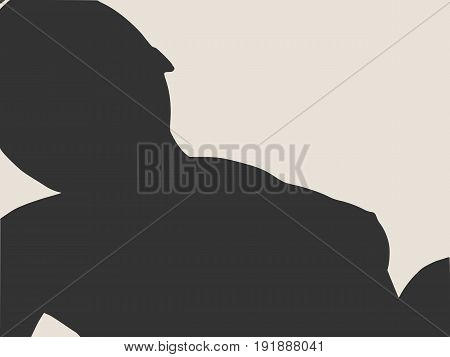 Vector illustration of a woman lying on the floor isolated over a grey background. Relaxing pose. Spa salon branding