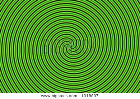 Optical Illusion Hypno Green