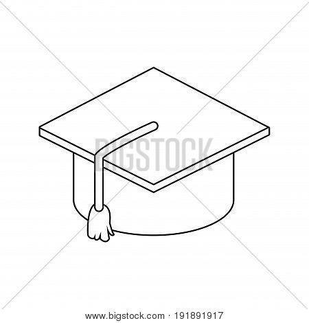 graduation cap accessory education success symbol vector illustration