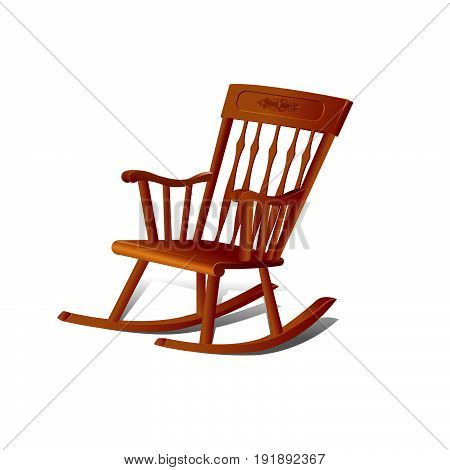 Illustration of a Rocking Chair. Isolated on White Background