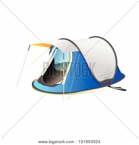camp or camping tend Isolated on White Background