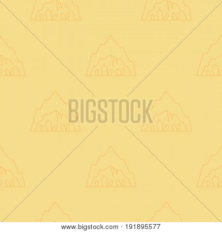 Simple seamless pattern. Vector background with caves. Can be used for wallpaper, surface texture, scrapbooking, fabric prints. For travel agency, tour brochure, excursion banner.